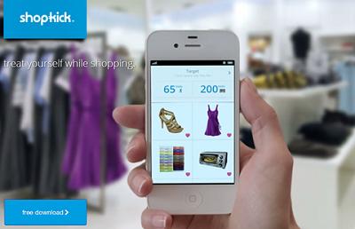 位置情報連動型の購買促進アプリ「shopkick」